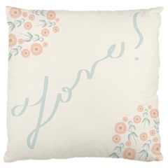Love Card Flowers Large Cushion Case (One Side)