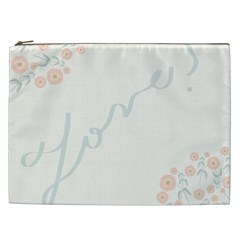 Love Card Flowers Cosmetic Bag (XXL)