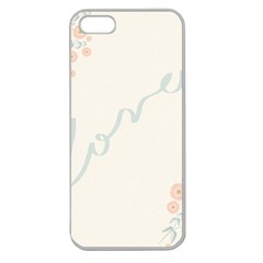Love Card Flowers Apple Seamless iPhone 5 Case (Clear)