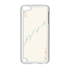 Love Card Flowers Apple iPod Touch 5 Case (White)