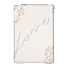 Love Card Flowers Apple iPad Mini Hardshell Case (Compatible with Smart Cover)