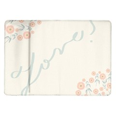 Love Card Flowers Samsung Galaxy Tab 10.1  P7500 Flip Case