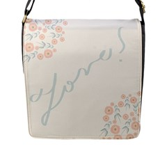 Love Card Flowers Flap Messenger Bag (L)