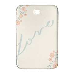 Love Card Flowers Samsung Galaxy Note 8.0 N5100 Hardshell Case