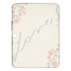Love Card Flowers Samsung Galaxy Tab 3 (10.1 ) P5200 Hardshell Case