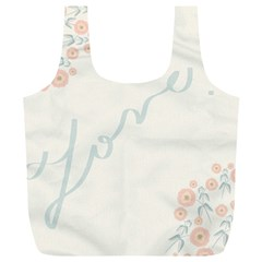 Love Card Flowers Full Print Recycle Bags (l)
