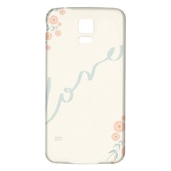 Love Card Flowers Samsung Galaxy S5 Back Case (white)