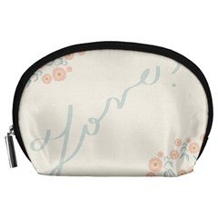 Love Card Flowers Accessory Pouches (Large)