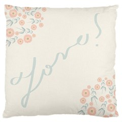 Love Card Flowers Standard Flano Cushion Case (Two Sides)