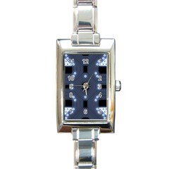 A Completely Seamless Tile Able Techy Circuit Background Rectangle Italian Charm Watch