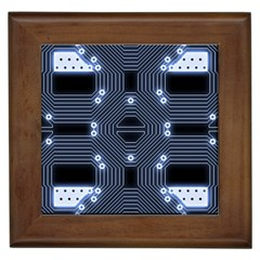 A Completely Seamless Tile Able Techy Circuit Background Framed Tiles