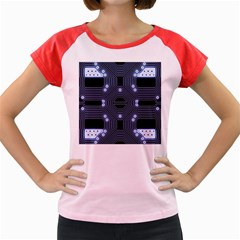 A Completely Seamless Tile Able Techy Circuit Background Women s Cap Sleeve T-Shirt