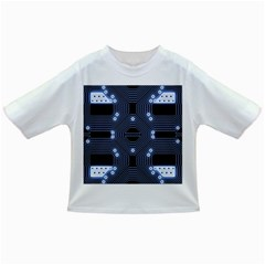 A Completely Seamless Tile Able Techy Circuit Background Infant/toddler T Shirts