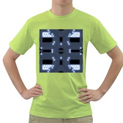 A Completely Seamless Tile Able Techy Circuit Background Green T-Shirt