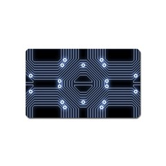 A Completely Seamless Tile Able Techy Circuit Background Magnet (name Card)