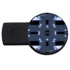 A Completely Seamless Tile Able Techy Circuit Background USB Flash Drive Round (2 GB)