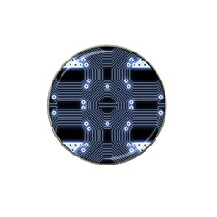 A Completely Seamless Tile Able Techy Circuit Background Hat Clip Ball Marker