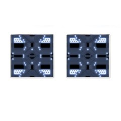 A Completely Seamless Tile Able Techy Circuit Background Cufflinks (square)