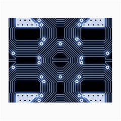 A Completely Seamless Tile Able Techy Circuit Background Small Glasses Cloth (2 Side)