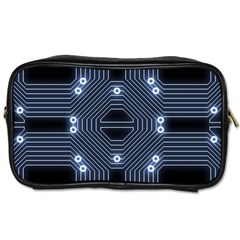 A Completely Seamless Tile Able Techy Circuit Background Toiletries Bags