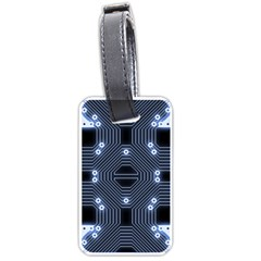 A Completely Seamless Tile Able Techy Circuit Background Luggage Tags (two Sides)