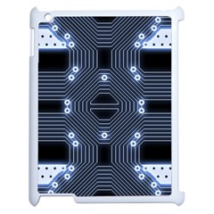 A Completely Seamless Tile Able Techy Circuit Background Apple iPad 2 Case (White)