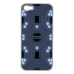 A Completely Seamless Tile Able Techy Circuit Background Apple Iphone 5 Case (silver)
