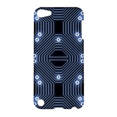 A Completely Seamless Tile Able Techy Circuit Background Apple iPod Touch 5 Hardshell Case