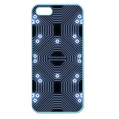 A Completely Seamless Tile Able Techy Circuit Background Apple Seamless iPhone 5 Case (Color)