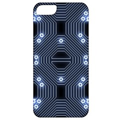 A Completely Seamless Tile Able Techy Circuit Background Apple iPhone 5 Classic Hardshell Case