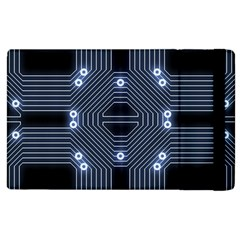 A Completely Seamless Tile Able Techy Circuit Background Apple iPad 3/4 Flip Case
