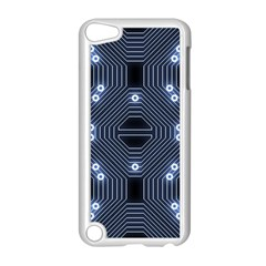 A Completely Seamless Tile Able Techy Circuit Background Apple iPod Touch 5 Case (White)