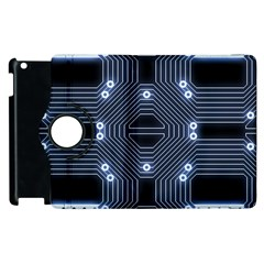 A Completely Seamless Tile Able Techy Circuit Background Apple iPad 2 Flip 360 Case