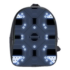 A Completely Seamless Tile Able Techy Circuit Background School Bags (xl)