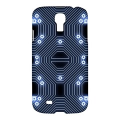 A Completely Seamless Tile Able Techy Circuit Background Samsung Galaxy S4 I9500/I9505 Hardshell Case