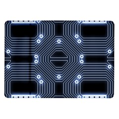 A Completely Seamless Tile Able Techy Circuit Background Samsung Galaxy Tab 10 1  P7500 Flip Case