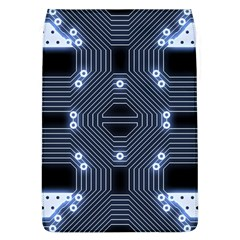 A Completely Seamless Tile Able Techy Circuit Background Flap Covers (L)