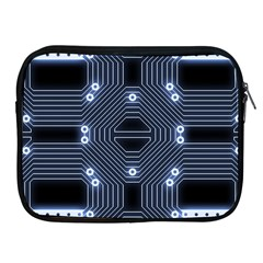 A Completely Seamless Tile Able Techy Circuit Background Apple Ipad 2/3/4 Zipper Cases
