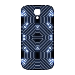 A Completely Seamless Tile Able Techy Circuit Background Samsung Galaxy S4 I9500/i9505  Hardshell Back Case