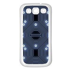 A Completely Seamless Tile Able Techy Circuit Background Samsung Galaxy S3 Back Case (white)