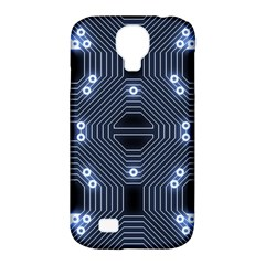 A Completely Seamless Tile Able Techy Circuit Background Samsung Galaxy S4 Classic Hardshell Case (PC+Silicone)