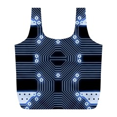 A Completely Seamless Tile Able Techy Circuit Background Full Print Recycle Bags (L)
