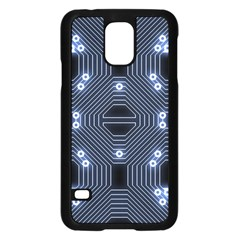 A Completely Seamless Tile Able Techy Circuit Background Samsung Galaxy S5 Case (black)
