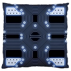 A Completely Seamless Tile Able Techy Circuit Background Large Flano Cushion Case (One Side)