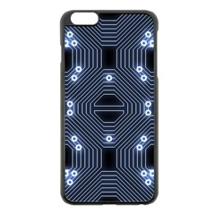 A Completely Seamless Tile Able Techy Circuit Background Apple iPhone 6 Plus/6S Plus Black Enamel Case