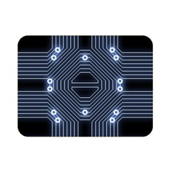 A Completely Seamless Tile Able Techy Circuit Background Double Sided Flano Blanket (mini)