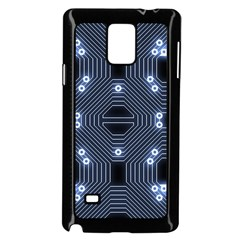 A Completely Seamless Tile Able Techy Circuit Background Samsung Galaxy Note 4 Case (Black)