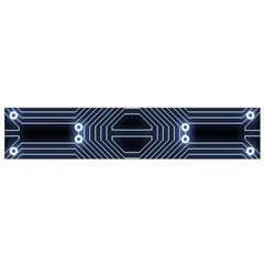 A Completely Seamless Tile Able Techy Circuit Background Flano Scarf (Small)