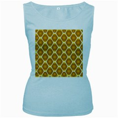 Snake Abstract Background Pattern Women s Baby Blue Tank Top