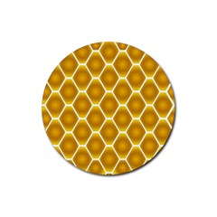 Snake Abstract Background Pattern Rubber Round Coaster (4 pack)